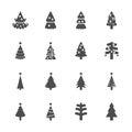 Christmas tree icon set 2, vector eps10 Royalty Free Stock Photo