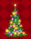 Christmas Tree - Illuminated Stock Images
