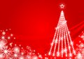 Christmas tree illuminated red eps this illustration contains transparency effect in color background Royalty Free Stock Photography