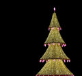 Christmas tree illuminated to christmas and new year holidays at night in moscow russia Royalty Free Stock Photo