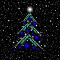 Christmas tree illustration Stock Photography