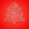 Christmas tree the illustration contains transparency and effects eps Royalty Free Stock Photography