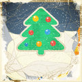 Christmas tree the illustration contains transparency and effects eps Royalty Free Stock Images