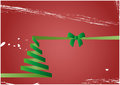 Christmas tree illustration of on green paper Stock Images