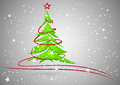Christmas tree illustration o isolated on white Stock Images
