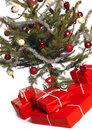 Christmas tree isolated Stock Photography