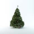 Christmas Tree Isolated On Whi...