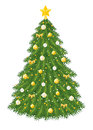 Christmas tree isolated white background illustration decoration Stock Photography