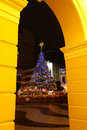 Christmas tree at Largo do Senado, Macau Royalty Free Stock Image