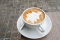 Christmas Tree Latte Art Coffee
