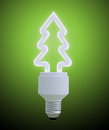 Christmas tree light bulb Stock Images