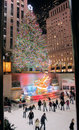 Christmas tree lighting celebration at Rockefeller
