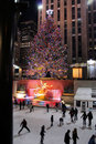 Christmas tree lighting celebration at Rockefeller Royalty Free Stock Photos