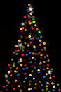 Christmas-tree with lights Royalty Free Stock Image
