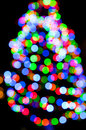 Christmas tree lights Stock Images