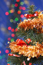 Christmas tree and lights Royalty Free Stock Photos