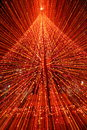 Christmas Tree with Lights Abstract Stock Photography