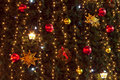 Christmas tree and lights background Royalty Free Stock Image