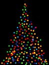 Christmas tree lights background of blurred Royalty Free Stock Photography