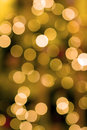 Christmas tree lights background yellow white out of focus blurred Royalty Free Stock Image