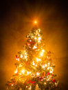 Christmas Tree Lit Stock Images