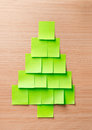 Christmas tree made of adhesive note Royalty Free Stock Photography