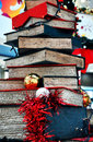 Christmas tree made of books Royalty Free Stock Photo