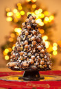 Christmas tree made of chocolate.