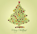 Christmas tree made of fir branches Stock Image