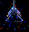 Christmas tree, made out of martini glasses Royalty Free Stock Image