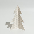 Christmas tree made of paper template Royalty Free Stock Photo