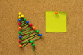 Christmas tree made of  pins Royalty Free Stock Photo