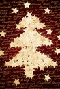 Christmas tree made from star shaped confetti Royalty Free Stock Image