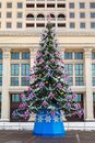 Christmas tree manege square moscow of the country at the in Royalty Free Stock Photos