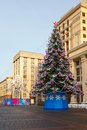 Christmas tree manege square moscow of the country at the in Royalty Free Stock Photography