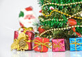 Christmas tree with many presents Stock Image