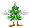 Christmas tree mascot character Royalty Free Stock Image