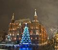 Christmas tree, Moscow Royalty Free Stock Photos