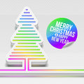 Christmas tree with multicolor decor Stock Image