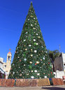 Christmas tree in Nazareth, Israel Stock Photography