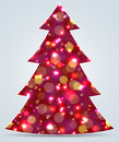 Christmas tree new year decoration illustration Royalty Free Stock Photos