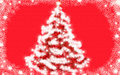 Christmas tree newyear background white tree snowy tree snow covered Stock Photo
