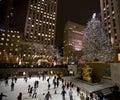 Christmas tree in NY  Royalty Free Stock Photo