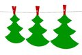 Christmas tree the original sticker garland isolated illustration d Royalty Free Stock Images
