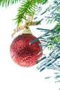Christmas Tree Ornament isolated Royalty Free Stock Images