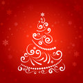 Christmas tree ornamental decorative holiday background Stock Image
