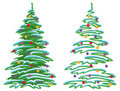 Christmas tree with ornaments Royalty Free Stock Photo
