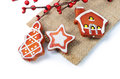 The christmas tree ornaments Royalty Free Stock Photo