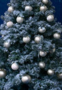 Christmas tree ornaments on Christmas tree Stock Photography