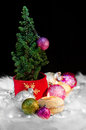 Christmas tree and ornaments - Festive mood 03 Royalty Free Stock Photo